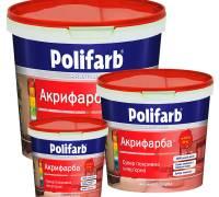 Краска Polifarb Акрифарба моющаяся для стен и потолка  4.2 кг