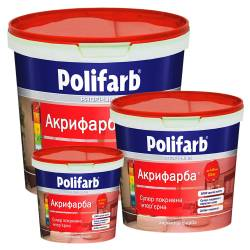 Краска Polifarb Акрифарба моющаяся для стен и потолка  1.4 кг
