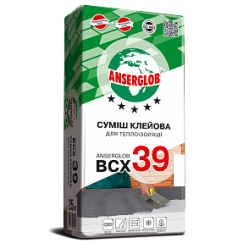 Клей для теплоизоляции ANSERGLOB BCX 39 25 кг