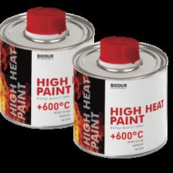 Краска жаростойкая по металлу BIODUR чёрная 0,2л