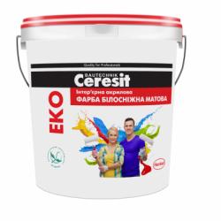 Интерьерная акриловая краска EKO Ceresit БЕЛОСНЕЖНАЯ МАТОВАЯ  3 л