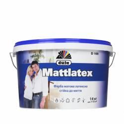 Краска Dufa Mattlatex матовая латексная моющаяся D100 10 л