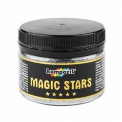 Декоративные глиттеры блестки MAGIC STARS Kompozit серебро 60 г