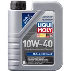 Моторное полусинтетическое  масло LIQUI MOLY MoS2 10w 40 1 л