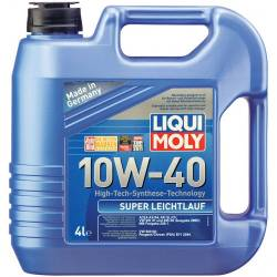 Моторное полусинтетическое масло LIQUI MOLY SUPER LEICHTLAUF 10w40 4л