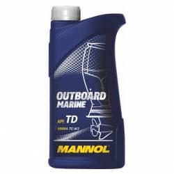 Двухтактное масло для подвесных лодочных моторов  Mannol Outboard Marine TD 1 л