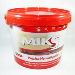 Краска MIKS моющаяся для стен и потолка 10 л