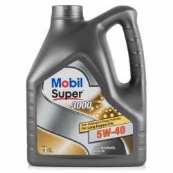 Моторное масло синтетическое Mobil Super 3000 XE 5W-40 4л