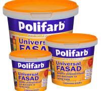 Краска фасадная акриловая Polifarb  1.4 кг