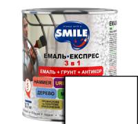 Грунт эмаль 3 в 1 антикоррозионная Smile белый 0.8 кг