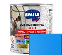 Грунт эмаль 3 в 1 антикоррозионная Smile голубой 2.4 кг