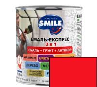 Грунт эмаль 3 в 1 антикоррозионная Smile красный 0.8 кг