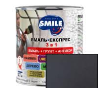 Грунт эмаль 3 в 1 антикоррозионная Smile тёмно-коричневая 2.4 кг