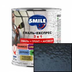 Эмаль Smile 3 в 1 молотковый эффект темно-коричневый 2 кг