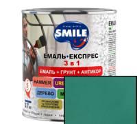 Грунт эмаль 3 в 1 антикоррозионная Smile зеленый 0.8 кг