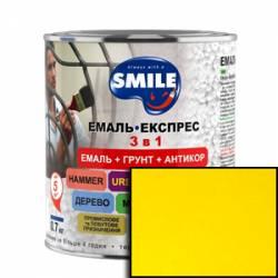 Грунт эмаль 3 в 1 антикоррозионная Smile желтый 2.4 кг