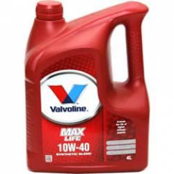 Моторное масло полусинтетическое Valvoline MaxLife 10W-40 4 л